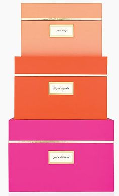 Storage boxes by Kate Spade