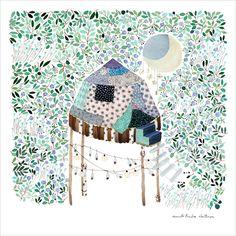 Finnish artist Anna Emilia Laitinen with a Garden of Moon Gazer .