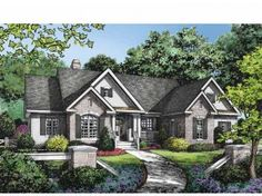 House Plan 82166   Craftsman European Plan with 2408 Sq  Ft   3     Searchable house plans
