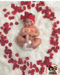 Valentine's Day photo for my little girl - baby - fotografie baby - Newborn Photography Monthly Baby Photos, Newborn Baby Photos, Baby Girl Photos, Newborn Pictures, Baby Girl Newborn, Baby Baby, Baby Poses, Cute Baby Photos, 3rd Baby