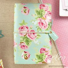 Webster's Pages - Webster's Pages Color Crush Faux Leather Travelers' Notebook Planner - Mint Floral Websters Pages, Leather Notebook, Travel Planner, Planner Book, Online Craft Store, Joann Fabrics, Scrapbook Supplies, Scrapbooking, Travelers Notebook