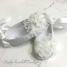 White Satin Baby Girl ShoesFlower GirlChristening Shoes | Etsy Flower Girl Shoes, Baby Girl Shoes, Kid Shoes, Girls Shoes, Baby Shoes Tutorial, Baby Christening Gowns, First Walkers, Ribbon Hair Bows, Baby Feet