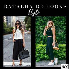 BATALHA DE LOOKS  CALÇA PANTACOURT X CALÇA CLOCHARD Looks Style, Photo And Video, Videos, Pants, Instagram, Fashion, Battle, Style, Trouser Pants