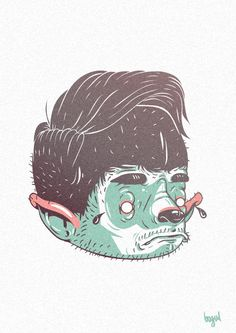 another bunch of stickers by Michal Bogulski, via Behance
