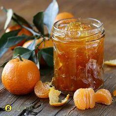 orange mandarin homemade jam marmelade in a glass jar Chutneys, Sauce Chili, Marmalade Recipe, Vegetable Drinks, Greek Recipes, Hot Sauce Bottles, Preserves, Brunch, Food And Drink