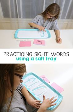 Practicing Sight Words Using a Salt Tray | Mama.Papa.Bubba.
