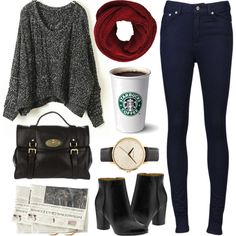 Fall. Add flats or knee high boots and a boyfriend style watch from Fossil.