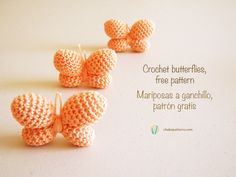 Crochet butterflies, free photo-tutorial and written pattern/ Mariposas a ganchillo, instrucciones escritas y foto-tutorial gratis