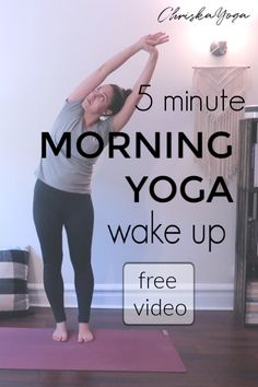 5 Minute Morning Wake Up Yoga Routine - Yoga Inspiration - Yoga Poses For Beginners, Workout For Beginners, Yoga Inspiration, Morning Stretches Routine, Morning Yoga Sequences, 5 Minute Yoga, Wake Up Yoga, Yoga Day, Free Yoga Classes