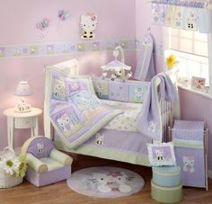 Lambs & Ivy 5 Piece Baby Crib Bedding Set, Hello Kitty and Friends: Baby