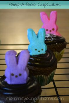 Easter Cupcakes with Peeps