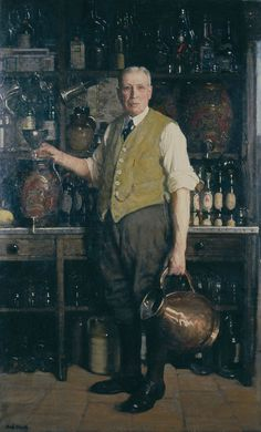 Frederick Elwell (1870-1958) The Landlord, 1935.  Oil on canvas Photo credit: Ferens Art Gallery, Hull Museums  © Elwell Estate