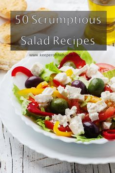 From fresh-from-the-veggie-garden salads to fruit salads to pasta and potato to meat to salads with an international flair, check out these 50 scrumptious salad recipes that are sure to satisfy your cravings all year long!
