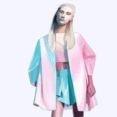 Artist @nelebalke Duster Coat, Kimono Top, Illustrations, Artist, Jackets, Tops, Women, Fashion, Down Jackets