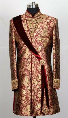Indian Wedding Suits Men, Sherwani For Men Wedding, Wedding Outfits For Groom, Sherwani Groom, Mens Sherwani, Indian Groom Wear, Wedding Dress Men, Moda India, Wedding Blazers