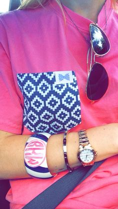 Instagram: golferprep / fraternity collection tee + monogram bangle