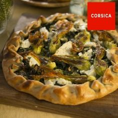 Swiss chard and herb tart with young cheese