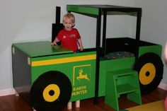 John Deere Bed for when you have all boys.....so Coby says! lol if you had a girl paint it pink & green...