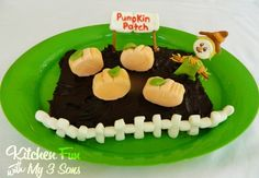 Kitchen Fun With My 3 Sons: Marshmallow Pumpkin Patch...such a fun Fall/Halloween edible craft for the kids to make themselves!