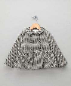 Grey Square Cropped Russian Coat - Toddler & Girls  by Marie Chantal Kids on #zulilyUK today!