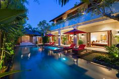 Villa Kalimaya is a serene three-bedroom oasis set within a sprawling tropical Balinese garden, and only minutes from the heart of bustling Seminyak.