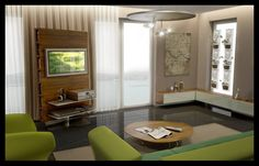 Liwingroom Floor Chair, Flooring, 3d Rendering, Contemporary, Living Room, Hungary, Apartments, Furniture, Home Decor