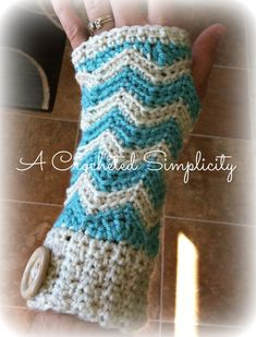 Crochet Pattern Chasing Chevrons Wristers by ACrochetedSimplicity, $3.00