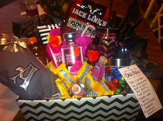 Gift basket I put together for my daughter's drill team big sis/lil sis gift exchange
