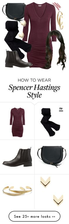 """Spencer Hastings inspired outfit"" by liarsstyle on Polyvore featuring Sole Society, H&M, Aéropostale, Charlotte Russe, Leslie Danzis, Anna Sui, NightOut, date and mid"