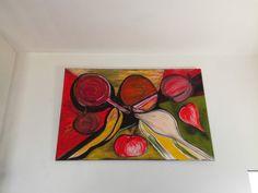 """""""Saveurs"""" Acrylique de Marie Da Cruz Disponible à la vente 115x75"""