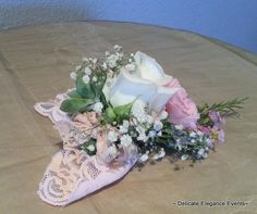 Delicate Elegance Events:  Pink Vintage Wedding - Bouttanaire