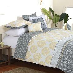 Yellow And Grey Bedding Sets Rktsith - Bed & Bath Kohls Bedding Sets, Target Bedding, Queen Comforter Sets, Yellow And Gray Bedding, Grey Bedding, Luxury Bedding, Grey Yellow, Always Kiss Me Goodnight, Home Bedroom
