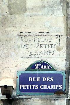 La rue des Petits-Champs (75001/75002 Paris)