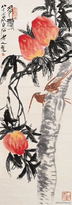 Qi Baishi grass inscet picture   齐白石 [<白石大师的那些鸟>]