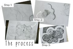 High School Art Lesson: Zentangle Designs: Line