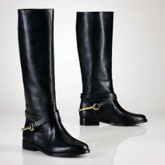 Vachetta Stirrup Riding Boot - Lauren Lauren Shoes - RalphLauren.com