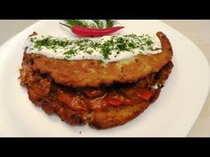 Potato pancakes in Hungarian style