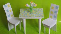 Как сделать кухонный стол и стулья для кукол