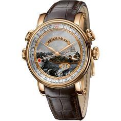 Arnold & Son Hornet World Time James Cook Antartica Rose Gold 1H6AP.D06A.C60B