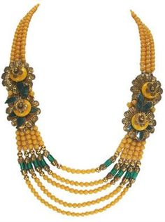 Miriam Haskell Necklace early 1940s. Frank Hess design.