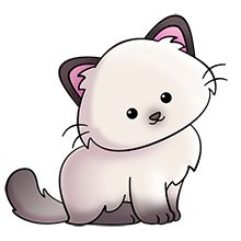 easy to draw Cute Cartoon Animals, Baby Animals, Cute Animals, Cute Animal Drawings, Kawaii Drawings, Cat Clipart, Clipart Images, Chibi, Cat Drawing