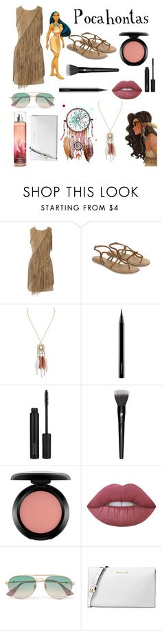 """""""Pocahontas"""" by brianapaige14 ❤ liked on Polyvore featuring Oasis, Disney, Accessorize, MAC Cosmetics, Lancôme, Lime Crime, Gucci, Michael Kors, disney and Disneyprincess"""
