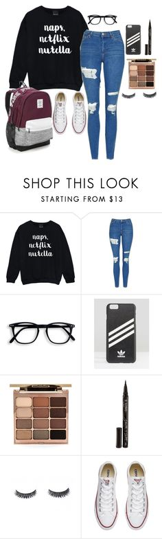 """""""school"""" by hiplikenna on Polyvore featuring Topshop, adidas, Stila, Smith & Cult, Converse and Victoria's Secret"""