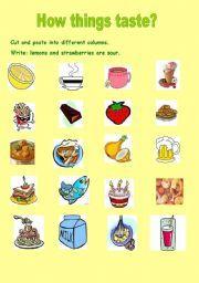 Sour taste food