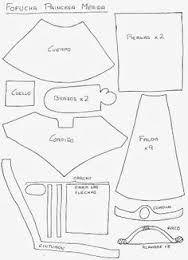 Resultado de imagen de patrones de vestidos fofuchas