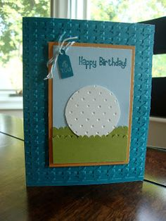 Stamp with Tammy: Masculine Golf Card