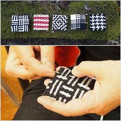 """Min fjärde dag som gäsinstagrammare tänkte jag ägna åt inspirerande småvävar!!! ❤  Vi Handvävare i Norr har ofta """"Textila Kortkurser"""" på våra vävträffar. """"Smycken i färgeffekt"""" är en av dessa. Ett riktigt roligt och lite annorlunda sätt att lära sig mer om bindningsläran bakom vävtekniken Färgeffekt!!! En av mina bättre ideer faktiskt ☺  Du kan läsa mer om detta på riksföreningens hemsida www.riksvav.se under """"Månadens väv"""". @rosemarielundbergedstrom #väva #vävning #riksvav #riksväv"""