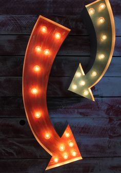 36 Arrow Vintage Marquee Hollywood Lighted Shape by JunkArtGypsyz, $169.00
