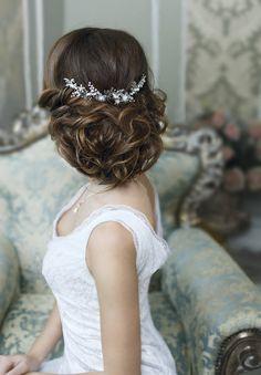 Bridal hair accessories Crystal Bridal headpiece Wedding hair piece Bridal hair vine Bridal hair piece Bridal Head Piece Wedding hair comb