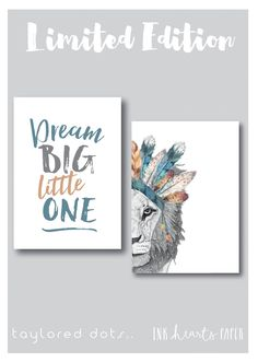 LIMITED EDITION - Leo The Lion / Dream Big Little One *COMBO* Nursery artwork